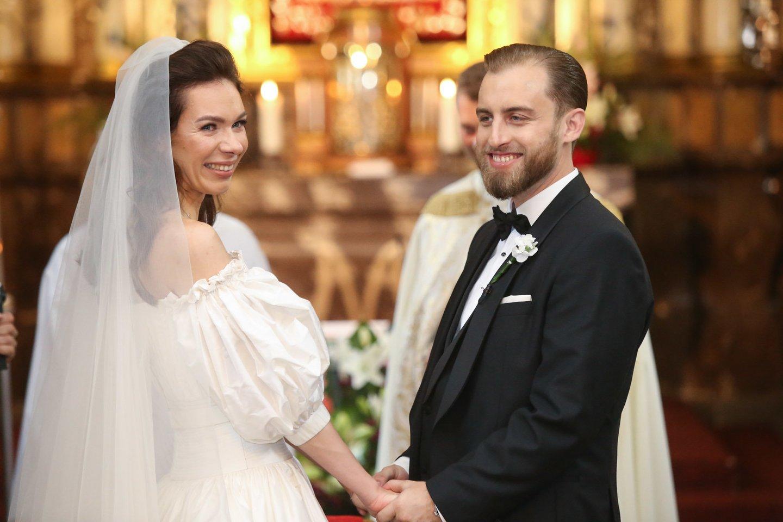 Vestuvių akimirkos.<br>R.Danisevičiaus nuotr.