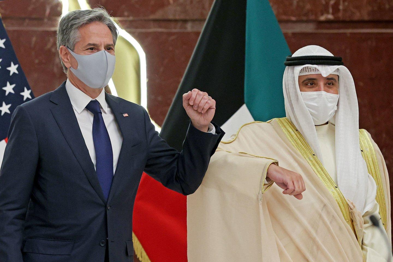 JAV netiesiogiai dalyvauja derybose dėl Irano su pasaulio galingosiomis valstybėmis, siekdamos atgaivinti branduolinį susitarimą.<br>AFP/Scanpix nuotr.