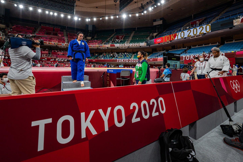 Po puikaus debiuto – karti nesėkmė: dziudo kovotoja S. Jablonskytė baigė kelionę Tokijo žaidynėse.<br>V.Dranginio/LTOK nuotr.