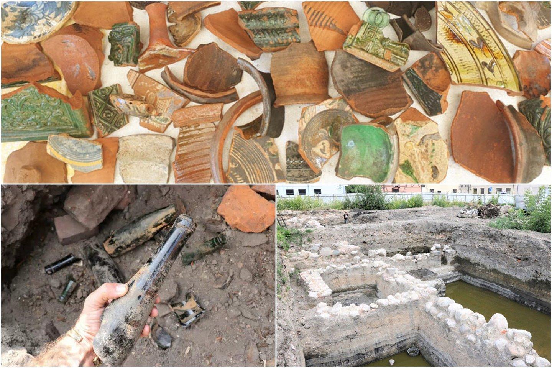 Šalia Anikės aikštės Klaipėdoje vykstantys archeologiniai kasinėjimai po truputį vis labiau apauga istorinių intrigų, iš lūpų į lūpas perduotų savotiškų legendų sluoksniu.<br>T. Ivanausko / D. Nikitenkos nuotr.