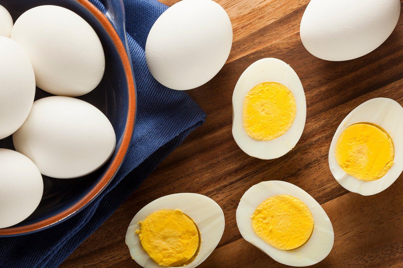 Kietai virti kiaušiniai.<br>123rf nuotr.
