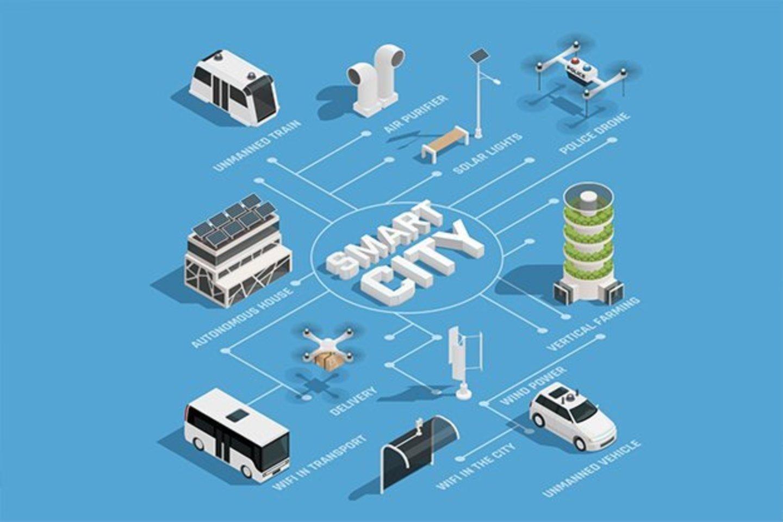 Išmanieji miestai yra vis labiau paplitusi miestų plėtros strategija, kurią taikant miesto problemos sprendžiamos pasitelkiant naujas informacines ir ryšio technologijas ir jų suteikiamas galimybes.<br>Pranešimo nuotr.