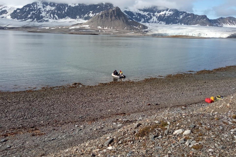 Mokslininkai Arktyje.<br>M.Liutkaus nuotr.