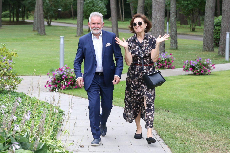 Algirdas Sysas su žmona Irena.<br>R.Danisevičiaus nuotr.