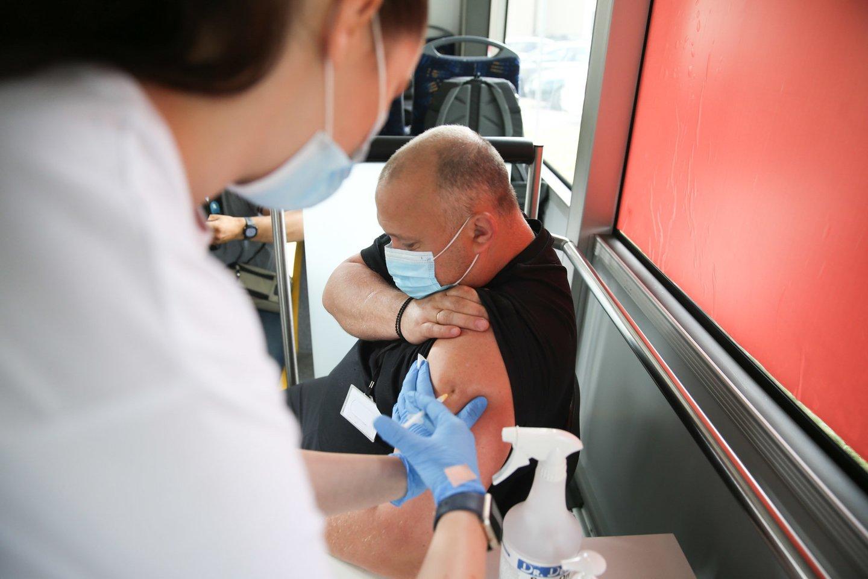 Vakcinacija nuo COVID-19.<br>R.Danisevičiaus nuotr.