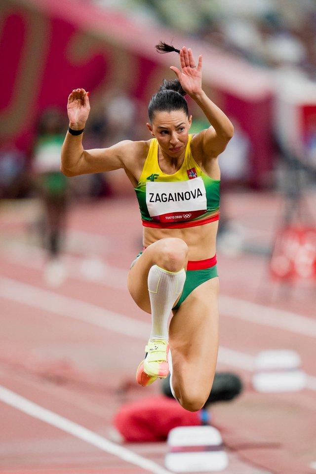 D.Zagainovai pavyko įskaityti vieną šuolį, tačiau rezultatu ji buvo labai nepatenkinta.<br>K.Štreimikio/LTOK nuotr.