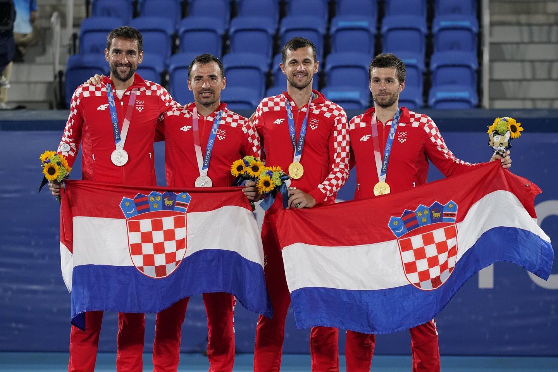 Kroatijos tenisininkai iškovojo tiek aukso, tiek sidabro medalius.<br>AP/Scanpix nuotr.