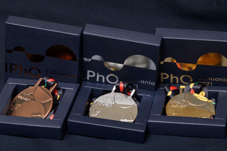 IPhO medaliai.<br>Organizatorių nuor.