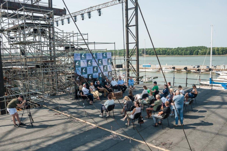Pirmojo Klaipėdos festivalio pristatymas.<br>KVMT nuotr.