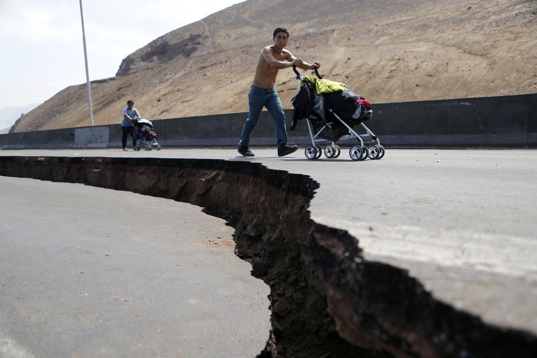 Penktadienį mažiausiai 40 žmonių buvo sužeista žemės drebėjimo metu Peru šiaurėje.<br>Reuters/Scanpix nuotr.