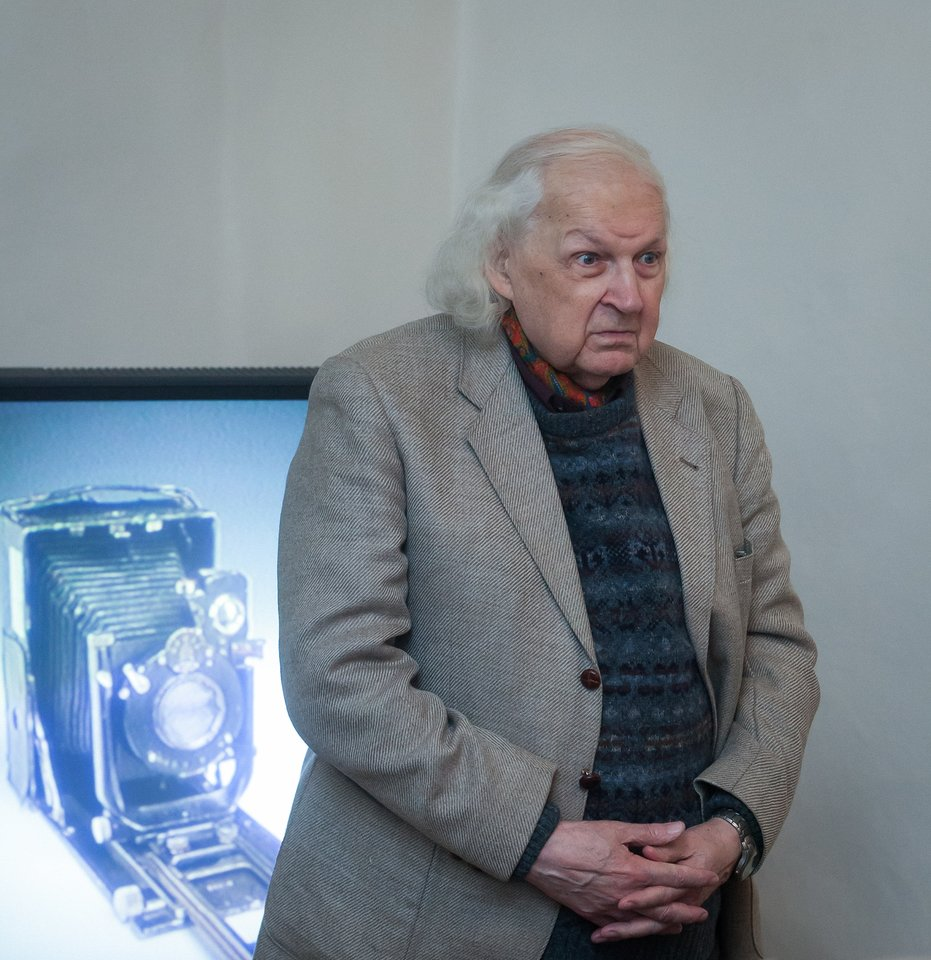 Legendinis kino operatorius Algimantas Mockus.<br>Martyno Ambrazo/ELTA nuotr.