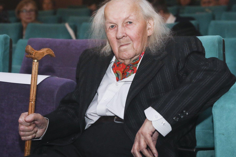 Legendinis kino operatorius Algimantas Mockus.<br>Mariaus Morkevičiaus/ELTA nuotr.