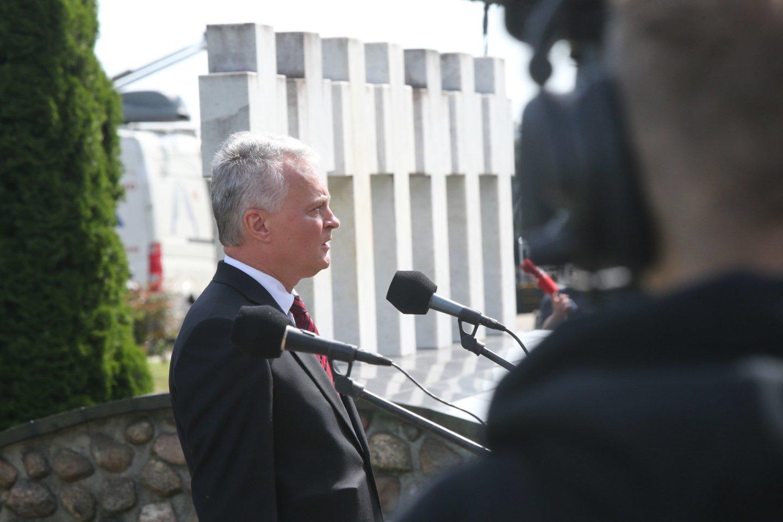 Prezidentas G. Nausėda Medininkuose.<br>R.Danisevičiaus nuotr.