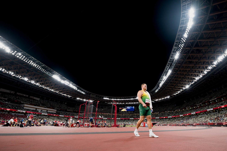 A.Gudžius į finalą pateko fiksuodamas antrą pagal gerumą rezultatą, tačiau Tokijuje buvo tik šeštas.<br>K.Štreimikio nuotr.