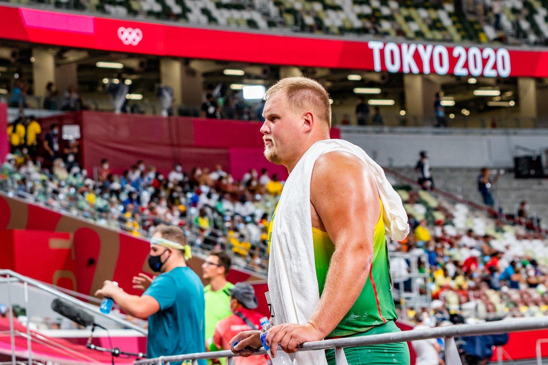 A.Gudžius į finalą pateko fiksuodamas antrą pagal gerumą rezultatą, tačiau Tokijuje buvo tik šeštas.<br>V.Dranginio nuotr.