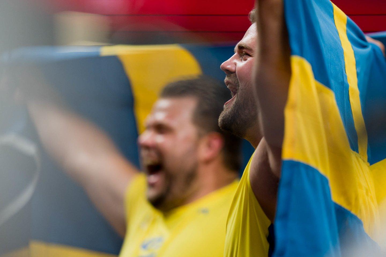 Olimpiadoje auksą ir sidabrą susišlavė Švedijos disko metikai.<br>K.Štreimikio/LTOK nuotr.