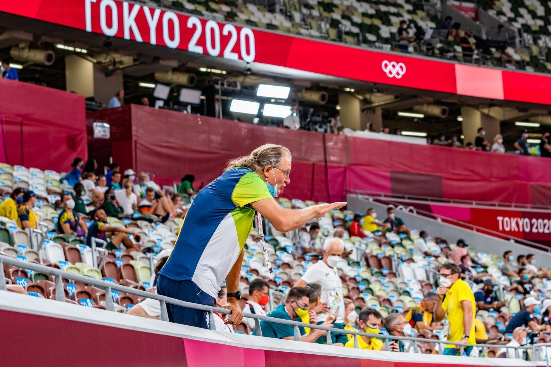 A.Gudžiaus pabrėžė, kad treneris V.Kidykas jam jau negalėjo padėti.<br>V.Dranginio/LTOK nuotr.