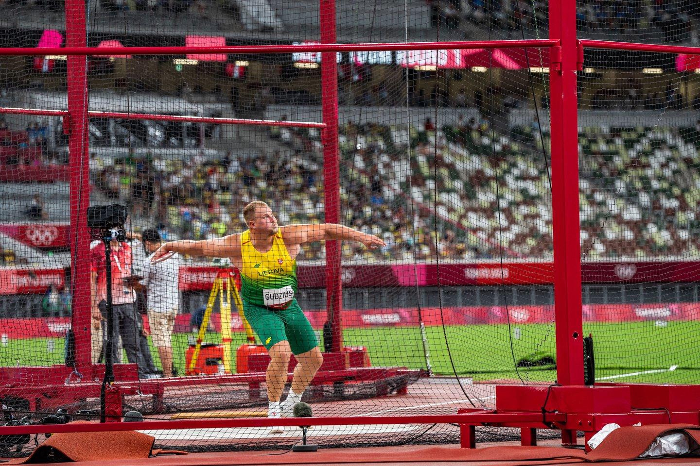 Andrius Gudžius nelaimėjo Tokijo olimpiados medalio.<br>V.Dranginio nuotr.