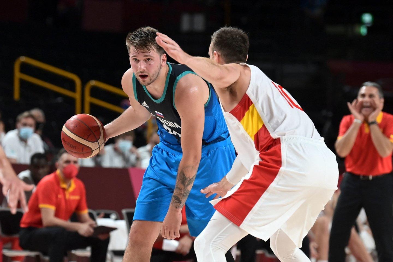 Slovėnijos ir Ispanijos mačas.<br>AFP/Svanpix.com nuotr.