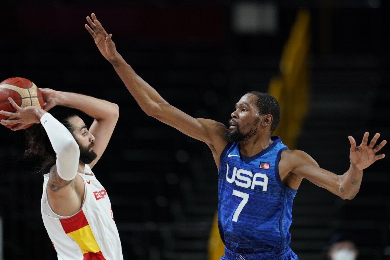 JAV komandą į priekį vedė Kevinas Durantas.<br>Reuters/Scanpix nuotr.