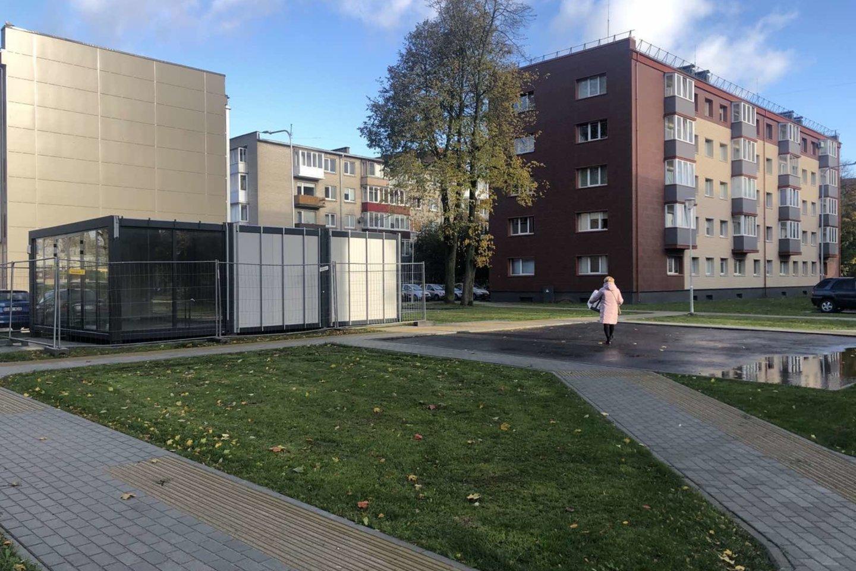 Rumpiškės kvartale sutvarkyti kiemai.<br>Klaipėdos savivaldybės nuotr.