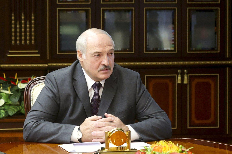 Baltarusijos diktatorius Aliaksandras Lukašenka.<br>AP/Scanpix nuotr.