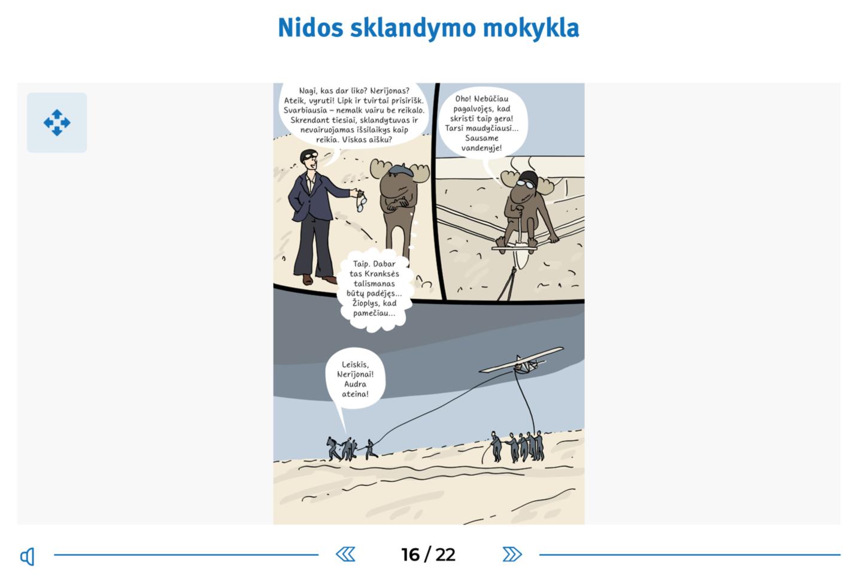 """""""Nerijada"""": ištrauka iš komikso.<br>Rengėjų nuotr."""
