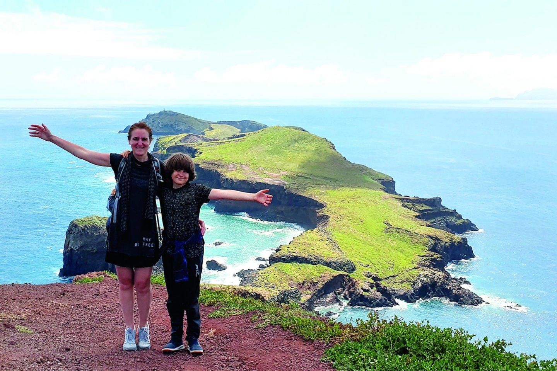 Šiemet su jauniausiu sūnumi Danguolė išmaišė Madeiros salą.<br>Asmeninio archyvo nuotr.