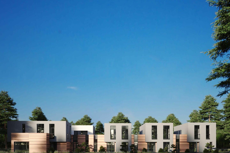 """Laurų kvartale įpusėjo naujo kvartalo statybos darbai. Projektą plėtoja UAB """"AZ Investment"""".<br>Vizual."""