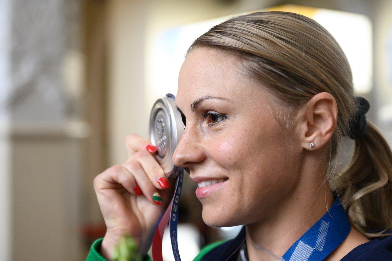 L.Asadauskaitės-Zadneprovskienės medalis buvo vienintelis laimėjimas Tokijo žaidynėse.<br>V.Skaraičio nuotr.