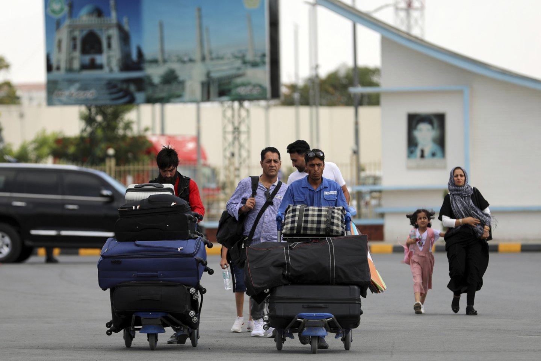 Kabulo oro uostas.<br>AP/Scanpix nuotr.