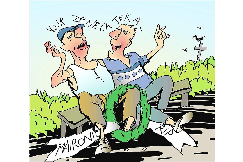Vytauto Jurkūno karikatūra.