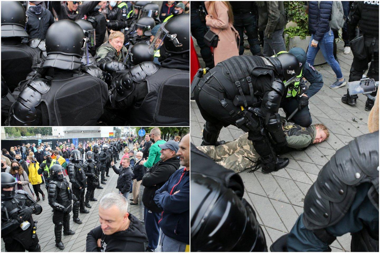 Eitynių priešininkai piktinosi renginio dalyviais, vadino juos necenzūriniais žodžiais, aplaistė alumi, apmėtė kiaušiniais, vyko susistumdymai su policija.<br>Lrytas.lt koliažas