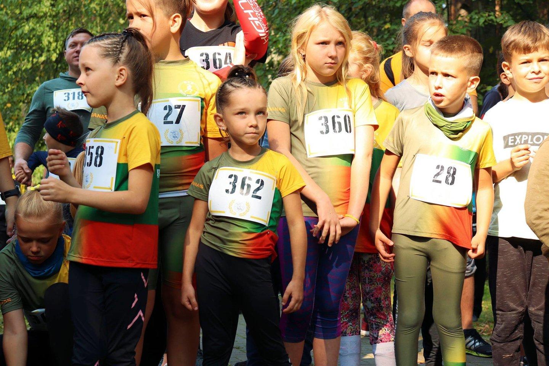 Bėgimo akimirka.<br>Organizatorių nuotr.