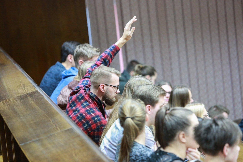 Studentai.<br>G.Bitvinsko nuotr.