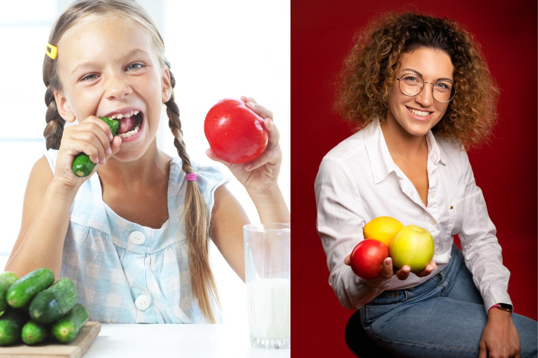 Renkantis daržoves, vaisius ar uogas reikėtų siekti įvairovės arba, kaip D. Lenkutienė sako, įsivaizduoti vaivorykštę ir rinktis kuo skirtingesnes spalvas<br>I. Giedraitytės nuotr. / lrytas.lt koliažas