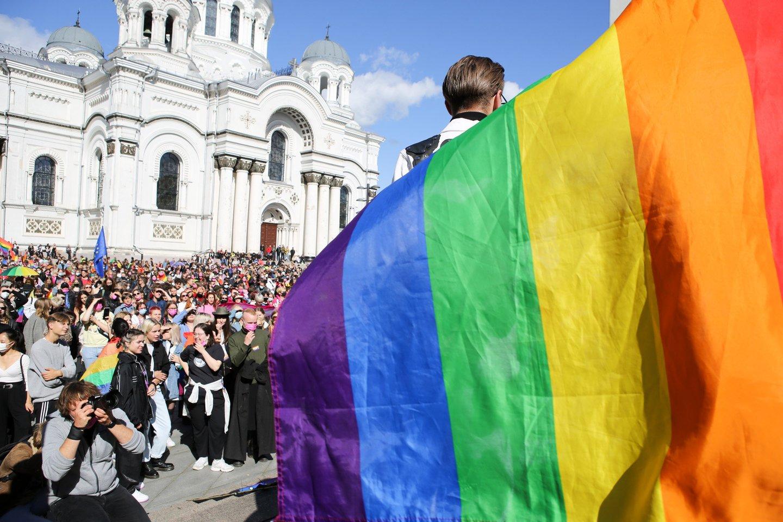 """""""Kaunas Pride"""" eitynės Laisvės alėjoje.<br>T.Bauro nuotr."""