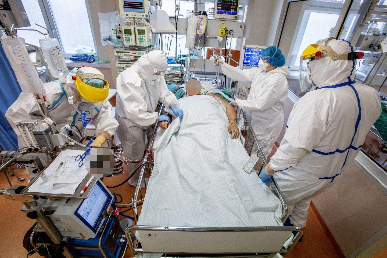 Koronavirusas, Santaros klinikos.<br>V.Balkūno asociatyvi nuotr.