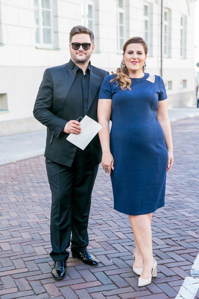 Erika ir Merūnas Vitulskiai.<br>T.Bauro nuotr.