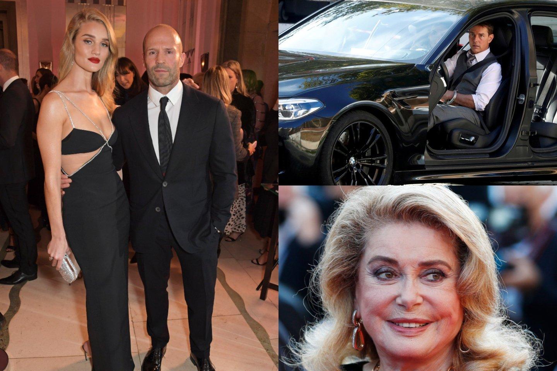 Rosie Huntington-Whiteley ir Jasonas Stathamas, Tomas Cruise'as ir Catherine Deneuve.<br>lrytas.lt montažas.