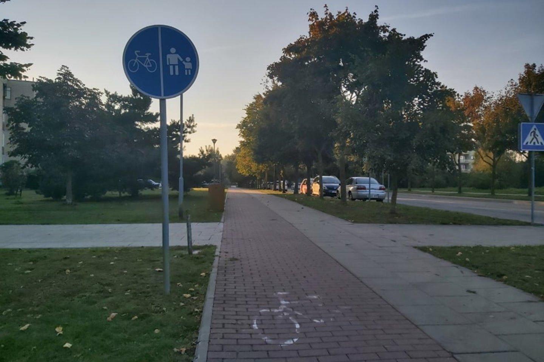 Palangoje esanti Bangų g. stebina ne vieną pėsčiąjį ar dviratininką.<br>lrytas.lt skaitytojos nuotr.