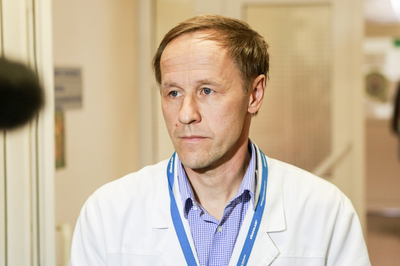Kauno klinikų Vaikų intensyviosios terapijos skyriaus vadovas doc. Vaidotas Gurskis.<br>G.Bitvinsko nuotr.
