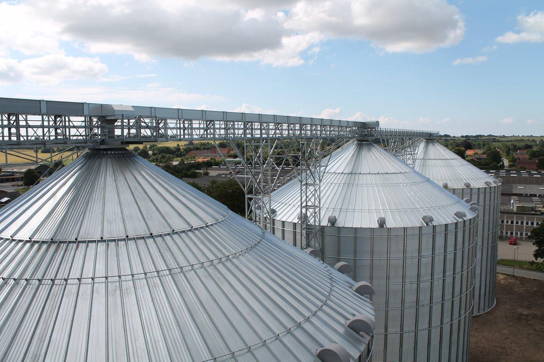 3 x 8000 t grūdų bokštai Danijoje.