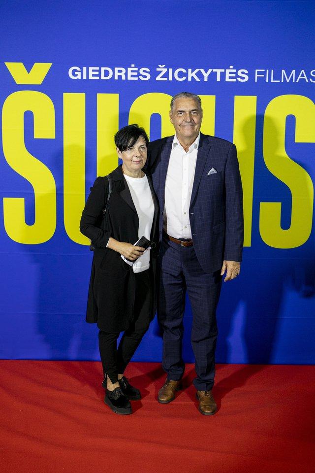 Algirdas Kaušpėdas su žmona Vilija Kaušpėdiene.<br>Organizatorių nuotr.