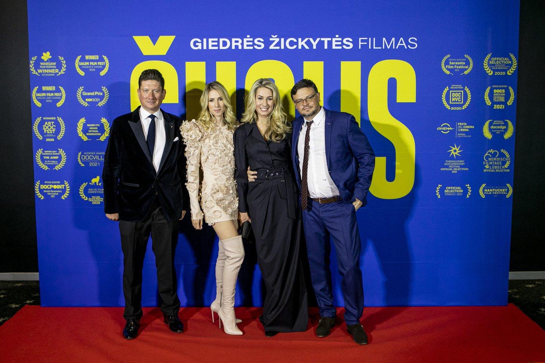 Filmo mecenatai, Paulius Kunčinas ir Žilvinas Mecelis.<br>Organizatorių nuotr.