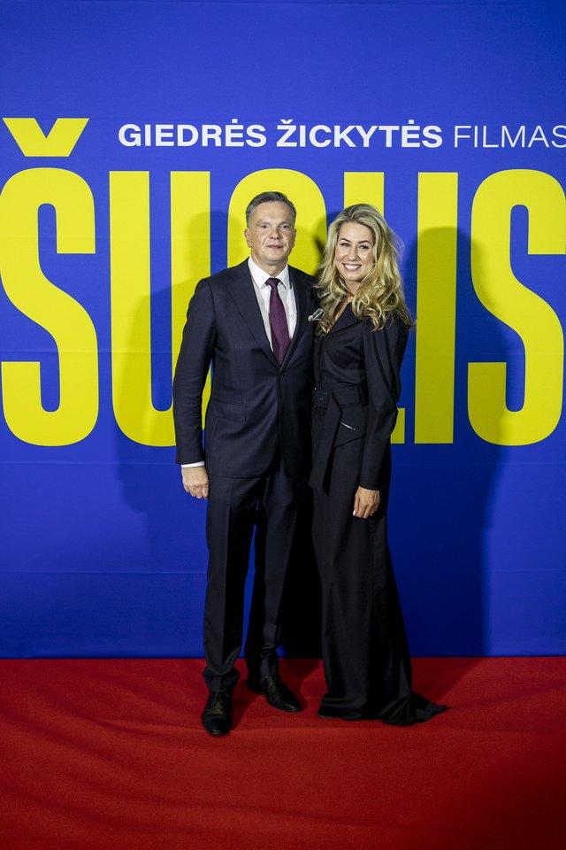 Giedrė Žickytė su vyru Eitvydu Bajarūnu.<br>Organizatorių nuotr.