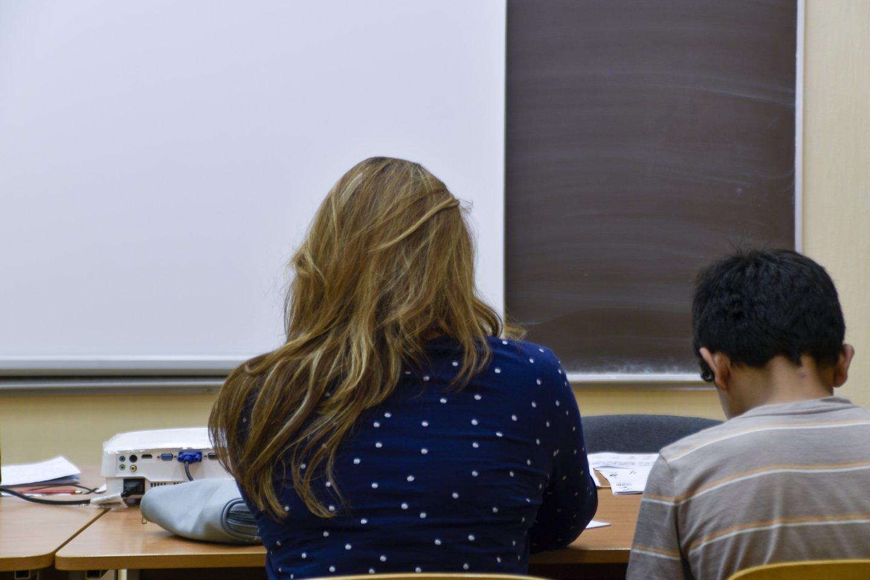 Švietimo bendruomenė sako, kad jos netenkina Vyriausybės planai pedagogų atlyginimus kelti tik nuo kitų metų rugsėjo.<br>V.Ščiavinsko nuotr.