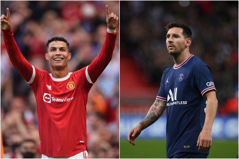 Klubus pakeitę C.Ronaldo ir L.Messi sukūrė dar daugiau intrigos Čempionų lygoje.<br>lrytas.lt koliažas.
