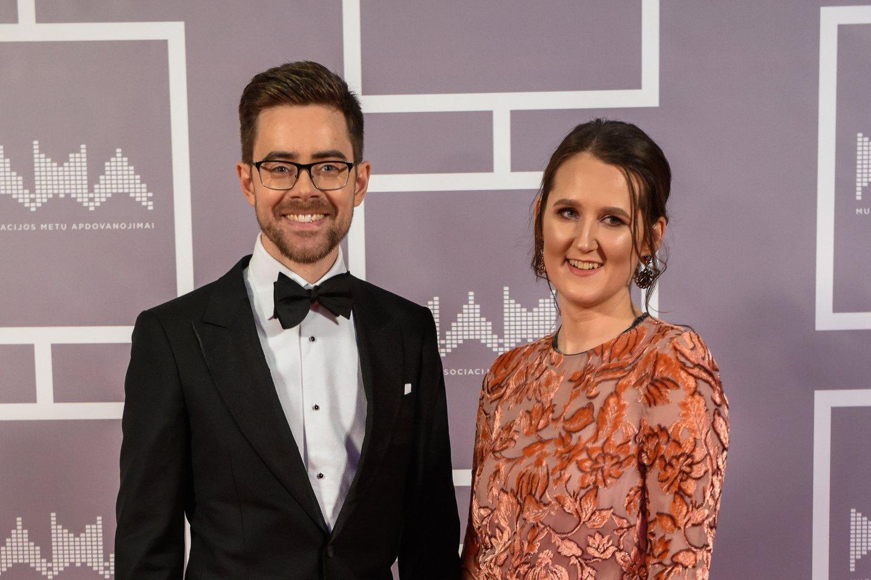 Timūras Augucevičius su žmona Agne.<br>G.Bitvinsko nuotr.