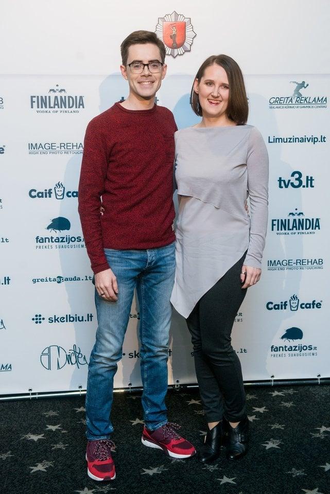 Timūras Augucevičius su žmona Agne.<br>J.Stacevičiaus nuotr.